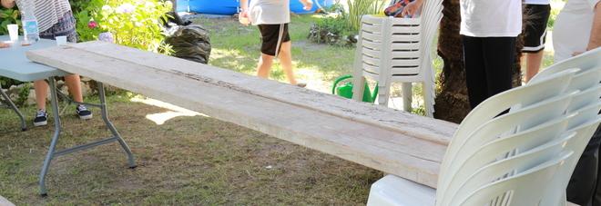 Dopo il furto viene allestito un tavolo di emergenza nel campo estivo a Pianura