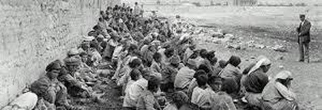 profughi armeni durante le cosiddette Marce della Morte