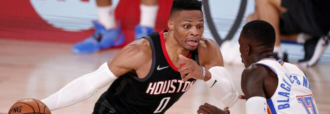 Nba: Houston all'ultimo secondo, fuori Oklahoma City e Gallinari