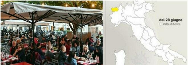 Italia tutta in zona bianca (tranne la Valle d'Aosta) da lunedì: firmata l'ordinanza