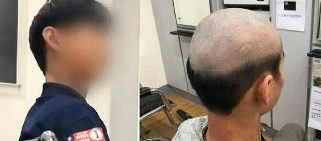 Una madre salva suo figlio dal covid-19 facendogli fare un vergognoso taglio di capelli