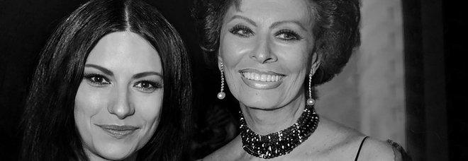 Laura Pausini con Sophia Loren