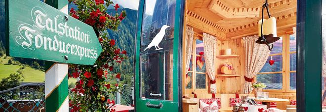 La Fondue-Gondel dello Spa Hotel Jagdhof di Neustift