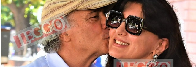 Enrico Montesano con la moglie Teresa Trisorio (Foto: Rino Barillari)