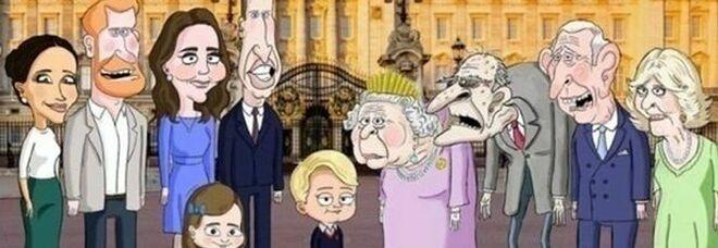 Principe Filippo, è polemica per il cartoon satirico sulla Royal Family. La Hbo costretta a sospenderlo