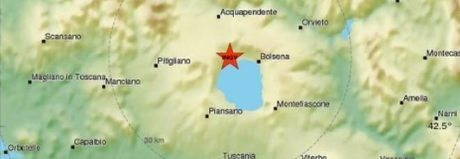 Terremoto sul lago di Bolsena, avvertito chiaramente da Viterbo a Orvieto