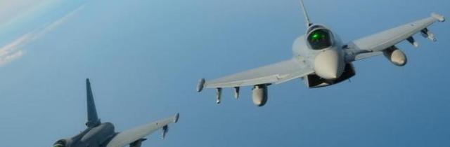 Nuovo scramble di due Eurofighter: intercettato volo sospetto Transavia