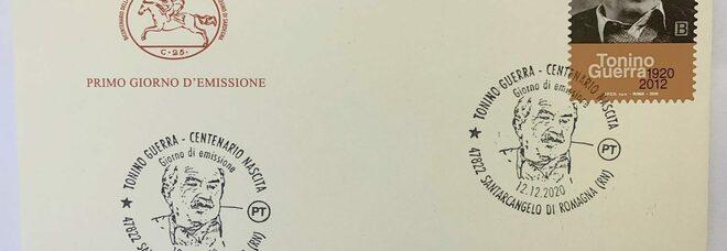 Un francobollo per Tonino Guerra, poeta e sceneggiatore, nell'anniversario della nascita