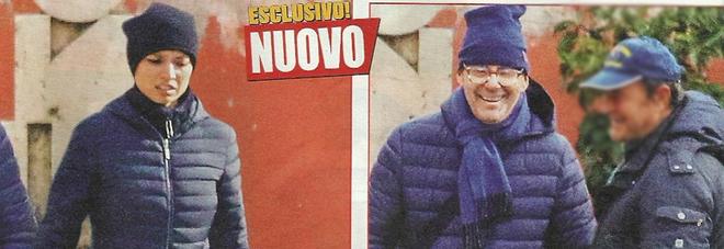 Fabrizio frizzi sorridente passeggiata con la moglie for Fabrizio frizzi e carlotta mantovan