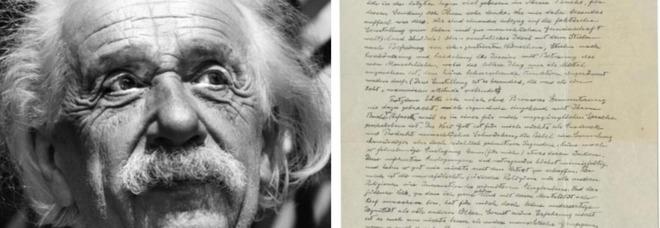 La «Lettera su Dio» di Albert Einstein venduta all'asta per 2,8 milioni di dollari