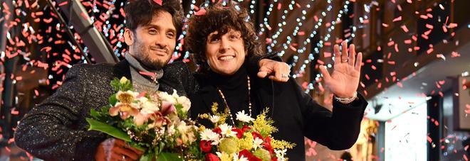 Enzo Avitabile e Peppe Servillo sul red carpet di Sanremo