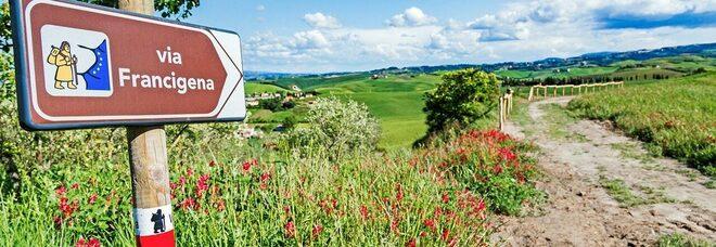 La staffetta europea Via Francigena con Enit Road to Rome arriva in Italia