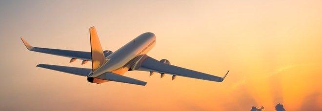 Immagine aereo in volo