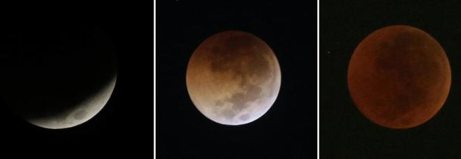 Eclissi Luna in diretta: ora il clou. Marte all'opposizione