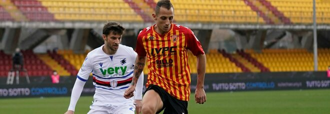 Benevento-Sampdoria 1-1: Keita risponde a Caprari