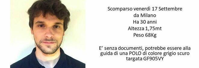 Giacomo Sartori scomparso a Milano, gli avevano appena rubato pc e documenti: ricerche e appelli social