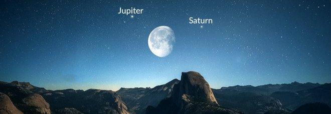 Luna Blu questa notte 22 agosto show con Giove e Saturno: perché si chiama così? Orari e diretta tv