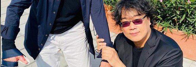 Gianni Morandi e Bong Joon-ho (Instagram)