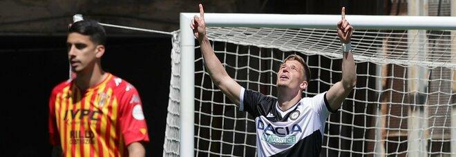 Benevento-Udinese, 2-4 che fa male: la zona retrocessione è più vicina