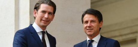 Italia-Austria, Kurz a Palazzo Chigi: «Doppio passaporto, basta tensioni»