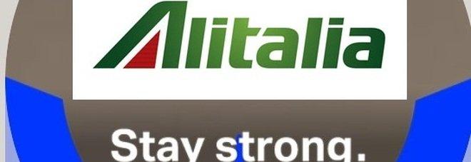 «Stay strong», i dipendenti Alitalia scelgono il motivo #WeAreAviation sui profili Facebook