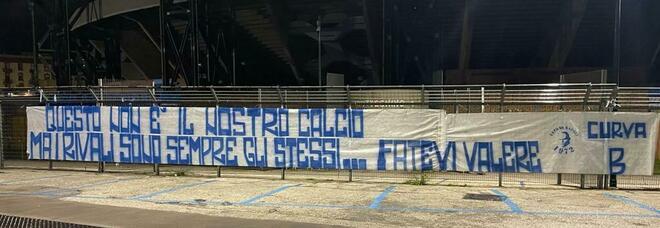 Juventus-Napoli, l'urlo degli ultras: «Il rivale è lo stesso, fatevi valere»