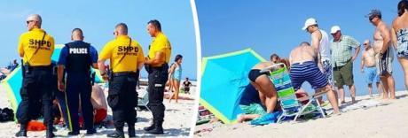 Raffica di vento in spiaggia, donna trafitta dall'ombrellone e ricoverata