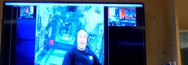 Il collegamento tra Luca Parmitano e i ricercatori italiani alla Base Concordia al Polo Sud
