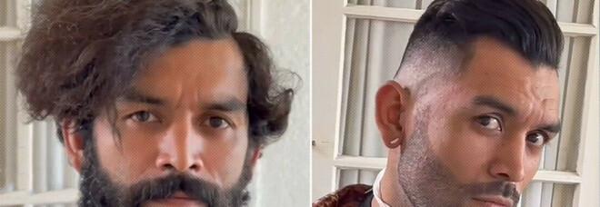 Un parrucchiere taglia gratuitamente i capelli a un senzatetto e lo trasforma in un modello - VIDEO