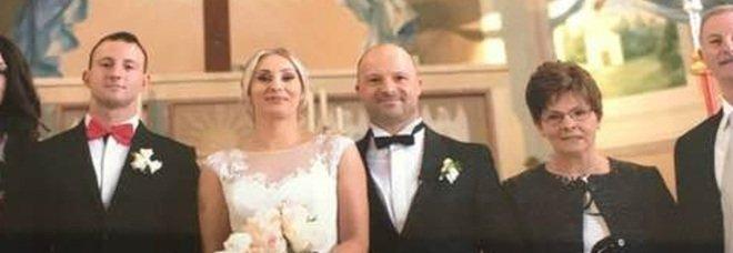 Egidio Battaglia e Adriana il giorno delle nozze