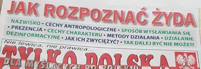 «Come riconoscere un ebreo». Articolo choc sulla prima pagina di un giornale polacco