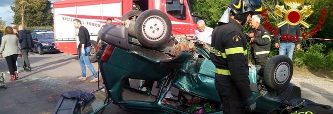 Moto contro auto. Due feriti gravi