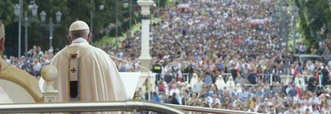 Il papa durante la Gmg a Cracovia