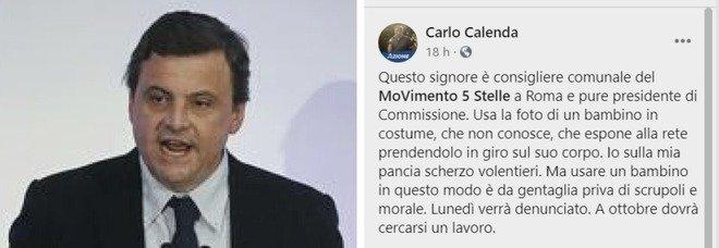 Carlo Calenda preso in giro da un consigliere con la foto di un bambino sovrappeso: «Lo denuncio»