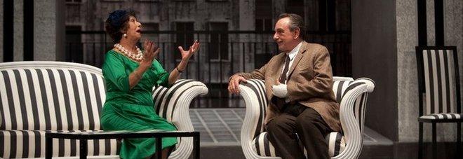 Anna Fiorelli con Luca De Filippo in