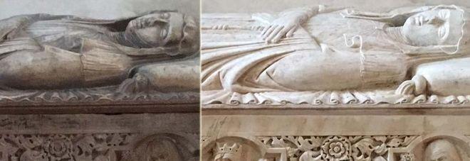 Risultati immagini per restauri marmi a santa chiara napoli