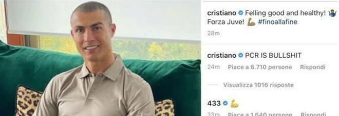 Cristiano Ronaldo ancora positivo sbotta su Instagram: «Il tampone una c...ata». Burioni risponde: «Benvenuto tra i virologi»