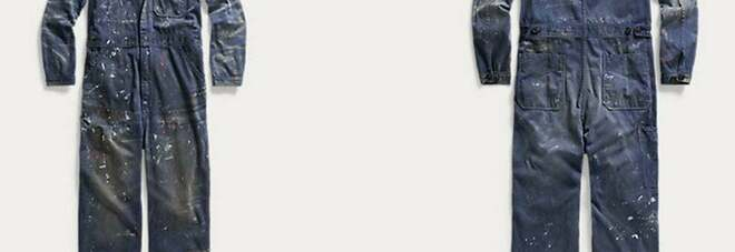 Ralph Lauren vende tute imbrattate di vernice a un prezzo choc