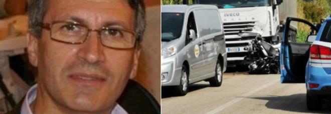 Moto contro camion, muore poliziotto di Lanciano