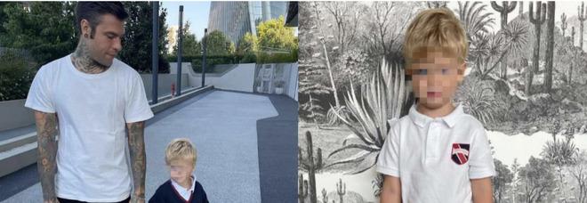 Il primo giorno di scuola di Leo immortalato dagli scatti del padre Fedez. Frequenterà la Saint Louis School di Milano