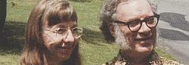 La scrittrice Janet Opal Jeppson con il marito Isaac Asimov