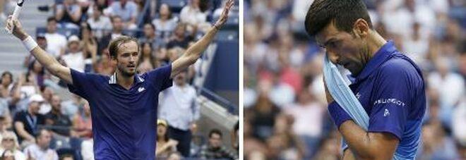 Us Open, Medvedev batte Djokovic in tre set (6-4, 6-4, 6-4) e nega il Grande Slam al serbo