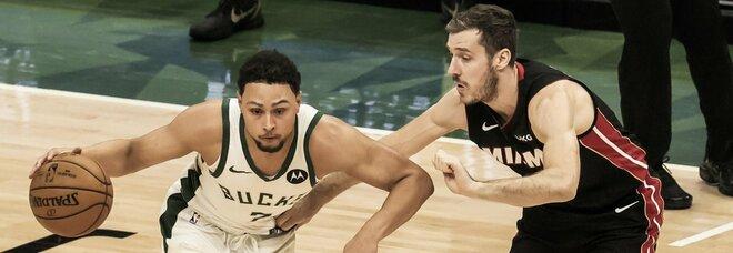 Nba, playoff: Jokic trascina Denver alla vittoria. I Bucks superano Miami 132-98