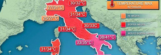 Meteo, ondata di caldo africano: «Punte fino a 44 gradi». Cielo 'ingiallito' al Sud, ecco il motivo