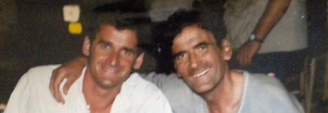 Gerardo Ferrara e Massimo Troisi sul set de Il postino