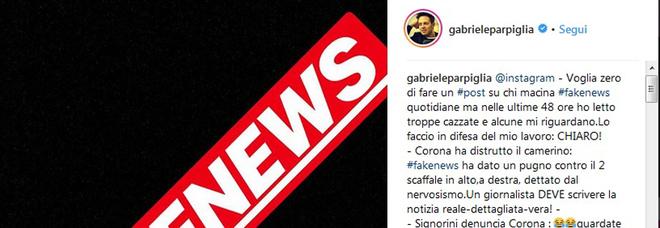 Il post di Gabriele Parpiglia dopo l'ospitata di Corona al GFVip