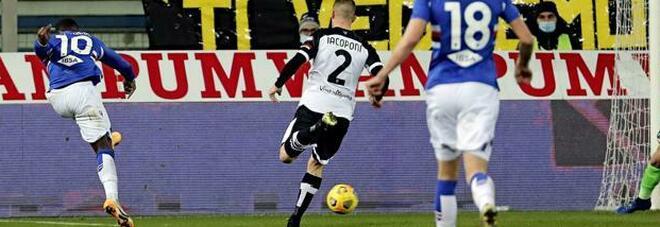 Sampdoria, quinta vittoria in 8 gare, Parma sempre più in crisi