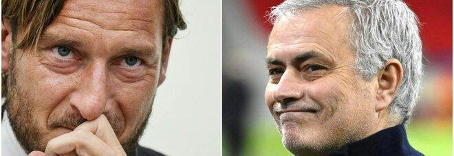 Totti: «Mourinho? Preso il più forte». La risposta dello Special One: «Peccato non essere arrivato 4 anni fa»