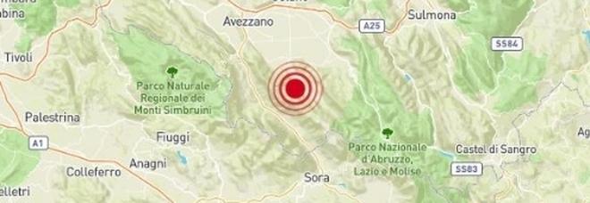 Terremoto in provincia dell'Aquila, avvertito anche nel basso Lazio sino a Frosinone