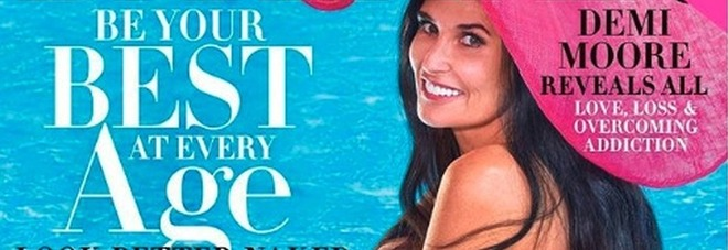 Demi Moore nuda in copertina a 56 anni. «Stuprata a 15 anni, salvai mamma dal suicidio» FOTO